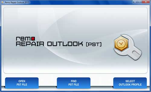Inbox repair tool for Outlook 2007 - Main Screen
