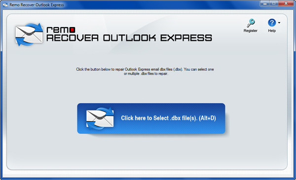 Inbox Repair Tool for Outlook Express - Main Window